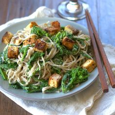 Soba Noodles with Tahini Sauce, Broccoli Rabe and Ginger Black Pepper ...