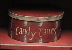 ♥ Primitive Box for Candy Canes. Grinch Stole Christmas, Merry Little Christmas, Primitive Christmas, Country Christmas, Christmas Candy, All Things Christmas, Winter Christmas, Christmas Holidays, Christmas Decorations