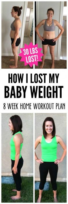 How I Lost My Baby Weight by working out at home - SixSistersStuff.com