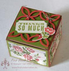 Stampin' UP! by First Hand Emotion: Geschenkboxen mit elegantem Gitter, Zeit zu Zweit und Oh, hello