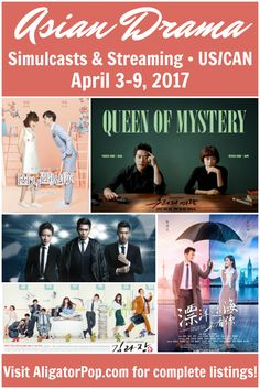 Where can I watch it with English subtitles? // Asian dramas with licensed, English-subbed simulcasts (U.S., Canada) for April 3-9, 2017. Premieres of K-drama Queen of Mystery and C-drama Across the Ocean to See You, plus Chief Kim, Medical Examiner Dr. Qin, Because of Meeting You, and Fortuneteller's Secret Recipe. #kdrama #tdrama #cdrama #streaming #simulcasts