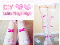 DIY Tights | Bow Tights| Lolita Fashion