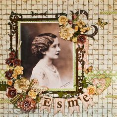Melanie Forbes Mother's Day layout using Little Darlings. So much vintage charm! #graphic45 #mothersday