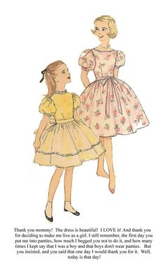 Mommy knew it was for the best. Once pantied, he would never return to boyhood, even if he repeatedly begged. Now Mommy has the dainty and demure daughter she wished for who loves her flaring. Prissy Sissy, Sissy Boy, What Boys Like, Boys Wearing Skirts, Petticoated Boys, Captions Feminization, Anime Traps, Trans Art, Indian Crossdresser