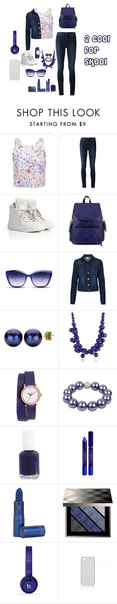 """""""school outfit"""" by lovefromfaty ❤ liked on Polyvore featuring Forever New, Acne Studios, Marc by Marc Jacobs, Kipling, GlassesUSA, Vero Moda, DaVonna, Kenneth Jay Lane, Nixon and Bee Charming"""