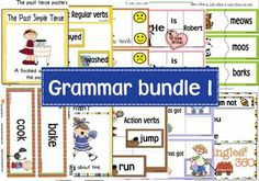 Grammar bundle 1 contains:  Verbs  Abilities game To be games Existence game Possession game Likes game Verbs word wall cards Tenses  Presen...