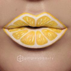 WEBSTA @ girlgreybeauty -  #Lemon #LipArt