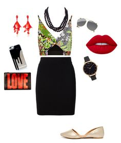 """""""color explosion!"""" by niamartin07 on Polyvore featuring Versace, T By Alexander Wang, Qupid, Betsey Johnson, Lime Crime, Oscar de la Renta, Olivia Burton, Gucci and Givenchy"""