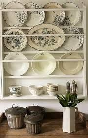 wall rack for plates & platters // Vintage House.I want a shelf like this for my plates and platters. Plate Rack Wall, Plate Shelves, Plate Racks, Wall Racks, Plates On Wall, Plate Storage, Shelf, Decoration Shabby, Deco Champetre