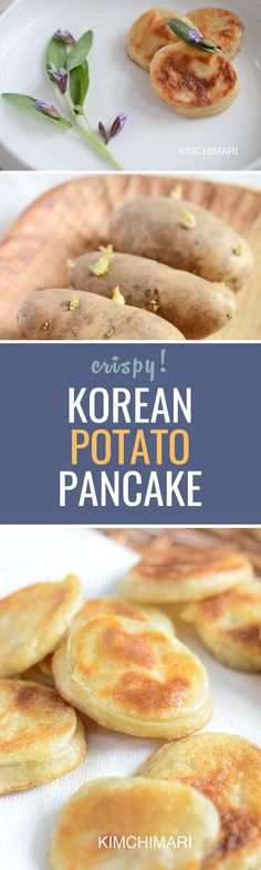 Easy potato fritters for side dish. Dipping in soy sauce makes it even better!