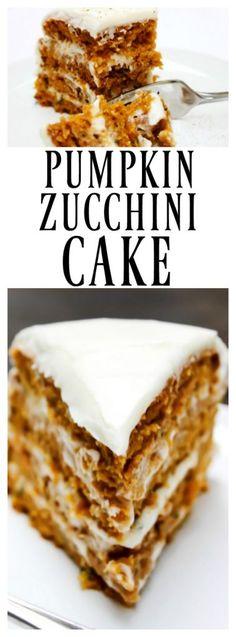 PUMPKIN ZUCCHINI CAKE - A Dash of Sanity