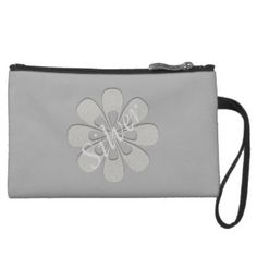 Cool Urban Abstract Silver Grey Purse Wristlet Clutches