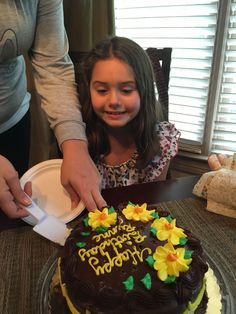 Rynne blowing out her 10 candles.