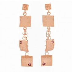 Veneto Drop Earrings with Garnet