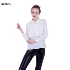 Women Euro Style Embroiderd Bead Blouse Two Layers OL Elegant Shirt Fashion New Trendy Spring Summer Chiffon Tops