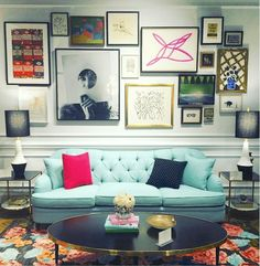 High Point Market Fall 2015 | Design Blogger's Tour | Part I - laurel home | beautiful, Kate Spade for EJ Victor #hpmkt #designbloggerstour | fabulous art Gallery Wall!
