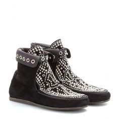 Morley Studded Suede Moccasin Boots ☆ Isabel Marant : mytheresa.com