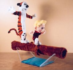 Calvin and Hobbes Pipe cleaner