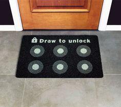 Draw to Unlock Doormat | http://thegadgetflow.com/portfolio/draw-to-unlock-doormat/