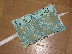 Sew a fold over case for circular knitting needles