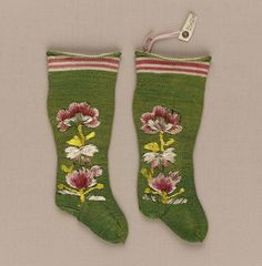 Pair of infant's stockings | Museum of Fine Arts, Boston 1650-1750