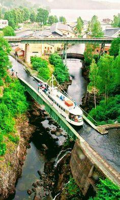 Dalsland Canal at Håverud Aqueduct, Sweden