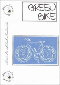 Green Bike is the title of this cross stitch pattern from Allesandra Adelaide Needleworks.