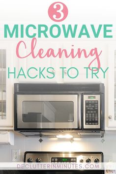 There is nothing worse than a microwave that resembles a war zone. Caked on cement like food that seems impossible to remove. I did my research and found 3 microwave cleaning hacks that will have you loving your microwave again. Microwave Cleaning Hack, Microwave Baking, Oven Cleaning, Cleaning Hacks, Cleaning Routines, Organizing Tips, Cleaning Supplies, Baking Soda Vinegar, Baking Soda Uses