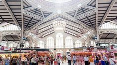 Valencia's Mercado Central-Valencia's Mercado Central - where the food on sale in this exquisite Spanish Art Nouveau building is as every bit delicious as the enveloping architecture (Getty)