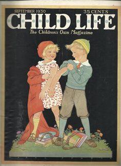 Vintage Child Life magazine-September 1930-Hazel Frazee cover.