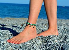 Items similar to anklets, Star Charm ANKLE Bracelet green beaded Anklet Tribal summer anklets Boho foot jewelry beach anklets bare feet anklets for women on Etsy Beach Foot Jewelry, Beach Anklets, Bare Foot Sandals, Beautiful Gift Boxes, Ankle Bracelets, Barefoot, Beaded Jewelry, Shops, Community