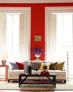 I really miss having red walls. So fun!
