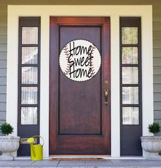 Baseball Door Hanger This PVC Door Hanger is perfect for decorating your front door or anywhere else. Our door hangers are made out of PVC plastic. This lightweight material makes it possible to hang on a door with a Baseball Wreaths, Baseball Signs, Baseball Crafts, Baseball Field, Baseball Season, Baseball Mom, Baseball Tickets, Baseball Stuff, Baseball Games