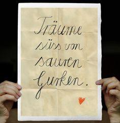 """Druck """"Träume süß von sauren Gurken"""" // Print """"Have sweet dream of sour cucumber"""" by Alles-Deins via DaWanda.com"""