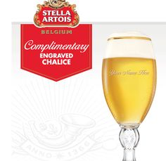 FREE Stella Artois Custom-Engraved Chalice
