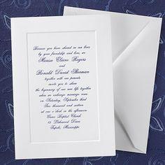 Simple Elegance - Invitation available through www.JaniceBlackmonEvents.carlsoncraft.com