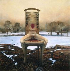Death is a mystery that humankind is compelled to explore. Some people deny its existence, clinging to a life after death, others embrace its nothingness. Still others, like Zdzisław Beksiński, create with their minds a dead land, where skin has dissolved from flesh and flesh from bone, a place dedicated