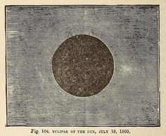 Eclipse of the Sun. July 18, 1860. Creator and cosmos illustrated. 1880.the title of this book