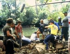 River Phoenix (Chris Chambers) films behind the scenes of Stand By Me with ( Wil Wheaton, Jerry O'Connell and Corey Feldman) River would carry his video came. River I, River Phoenix, Stand By Me Film, Movie Theater, Movie Tv, Theatre, Movies Showing, Movies And Tv Shows, The Scene Aesthetic
