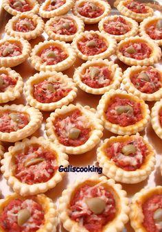 Mini pizzas feuilletées au jambon