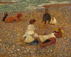 Steer, Philip Wilson (1860-1942) - 1880s Knucklebones (National Museum, Liverpool, U.K.)