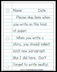 great idea. My kids never remember to leave a space for revising and editing!