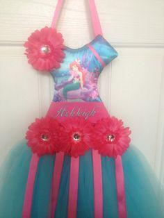 Princess Ariel Tutu Hair Bow Holder. $25.00, via Etsy.