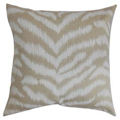 Cotton pillow with an animal-print chevron motif. Made in the USA.  Product: PillowConstruction Material: Cotton...