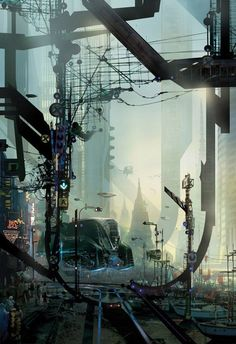 Cyberbad Days - Futuristic City Concepts by Stephan Martiniere