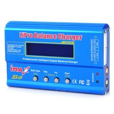 """""""iMAX B6 2.5"""""""" LCD RC Lipo Battery Balance Charger (100~240V/US Plug)"""". The LCD RC Lipo battery balance charger is with input voltage monitoring to protect car batteries at the field. The Lipo battery balance charger is rapid charger / discharger for all kin of battery of RC hobby, with built in balancer for Lipo battery, battery, Li-ion / Polymer battery, Ni-MH/Cd battery, even Pb battery. The large range of charge currents store function allows safe storage current. - Rapid…"""