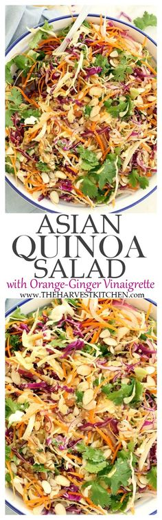 This Asian Quinoa Salad is light and fresh tasting and super quick and easy to make.
