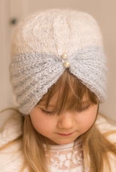 Free Knitting Pattern for Margot Turban - Classic hat or headband in sizes baby/toddler/child/woman. Designed by Muki Crafts.