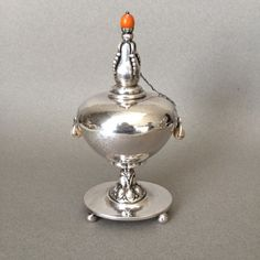 Gallery 925 - Georg Jensen Cigar Lighter or Oil Lamp No. 73, Handmade Sterling Silver