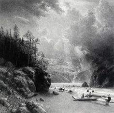 Graphite pencil drawing by Ethan Murrow: State of Alaska